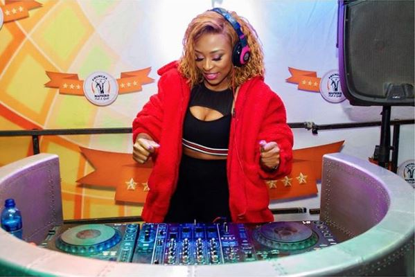 Photos: DJ Zinhle at St Camilla Primary School for Global Washing Day