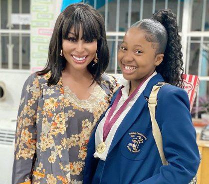 Khanyi Mbau celebrates daughter's academic achievement