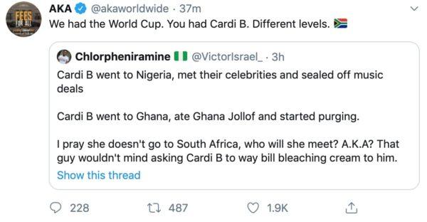 AKA throws Nigerians under the bus again