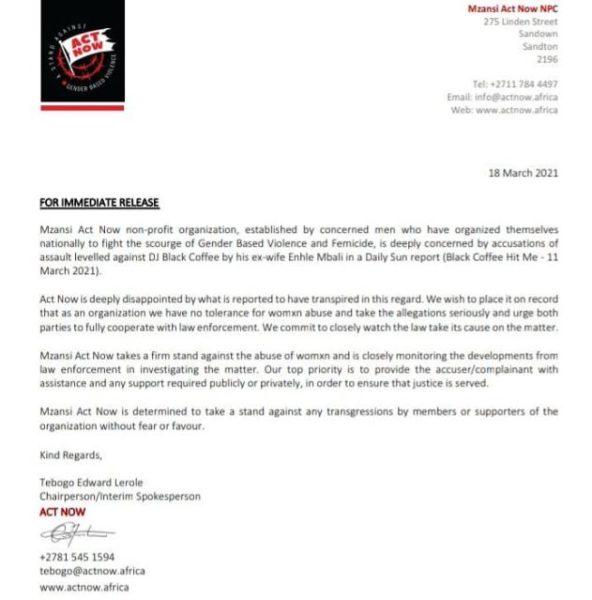 GBV letter